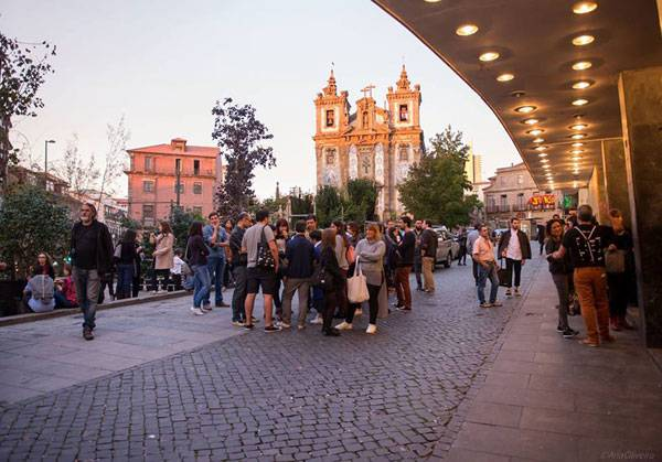 View from Batalha Cinema before the OFFF Festival. Photo Credit: Ana Oliveira