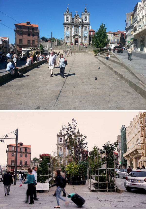 OFFF Batalha project before and after. Photo credit: Ana Oliveira