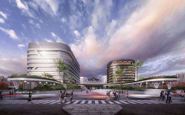 Kaohsiung Station. Image courtesy of Mecanoo Architecten