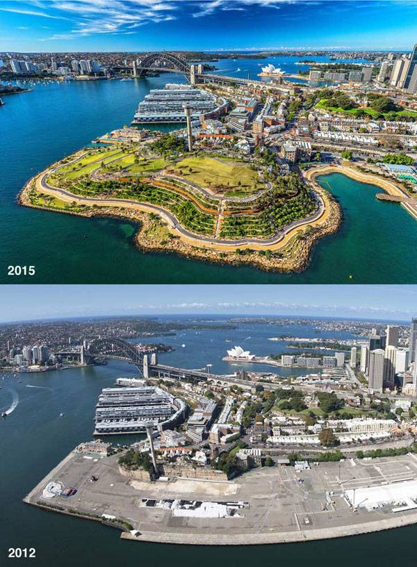 Barangaroo Reserve. Image courtesy of  Peter Walker and Partners Landscape Architecture (PWP)