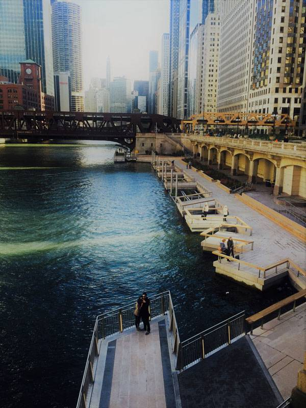 Chicago Riverwalk Photo Credit: Brett Lezon