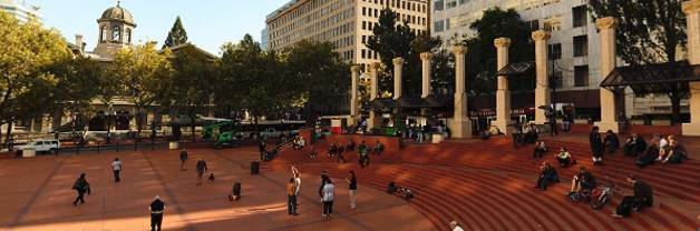 Pioneer Courthouse Square & Pioneer Place