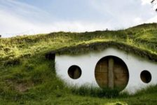 Hobbit House – A home built into the side of a hill