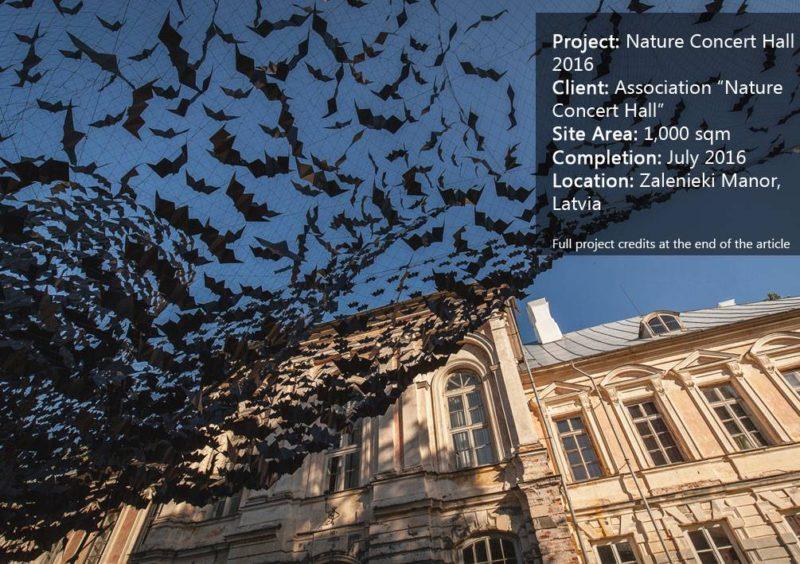 Art Installation of 10,000 Bats Graces the Nature Concert Hall