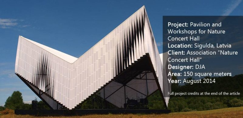 Pavilion and Workshops for Nature Concert Hall.