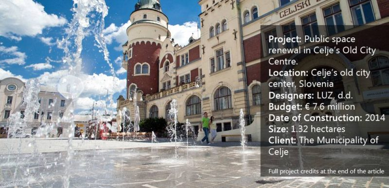 Public space renewal in Celje's Old City Centre.