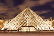 Pyramid at Louvre Museum Paris France; credit: Kanuman / shutterstock.com