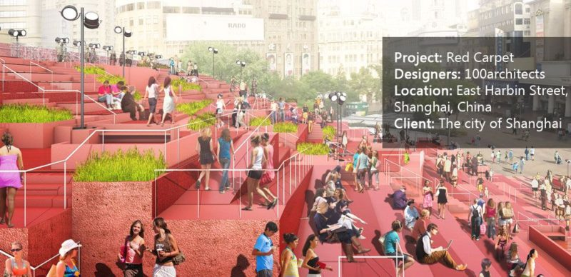 The Red Carpet project. Visualisation courtesy of 100 Architects.