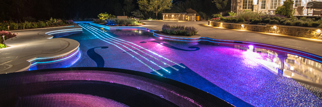 Violin Swimming Pool; image courtesy of www.njcustomswimmingpools.com