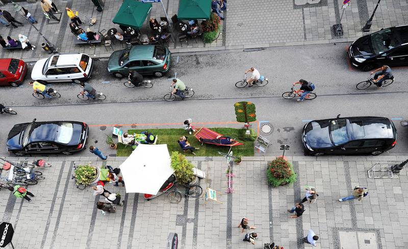 PARK(ing) Day 2016 in Munich, Germany