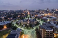 Bird's eye-view of One Spadina Crescent