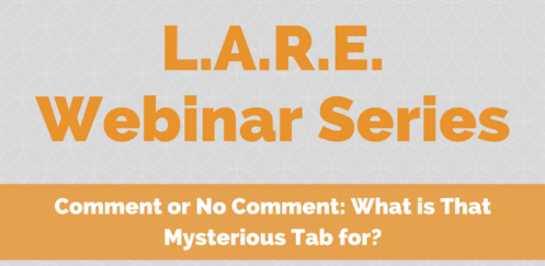 LARE – Comment or No Comment: What is that Mysterious Tab For?
