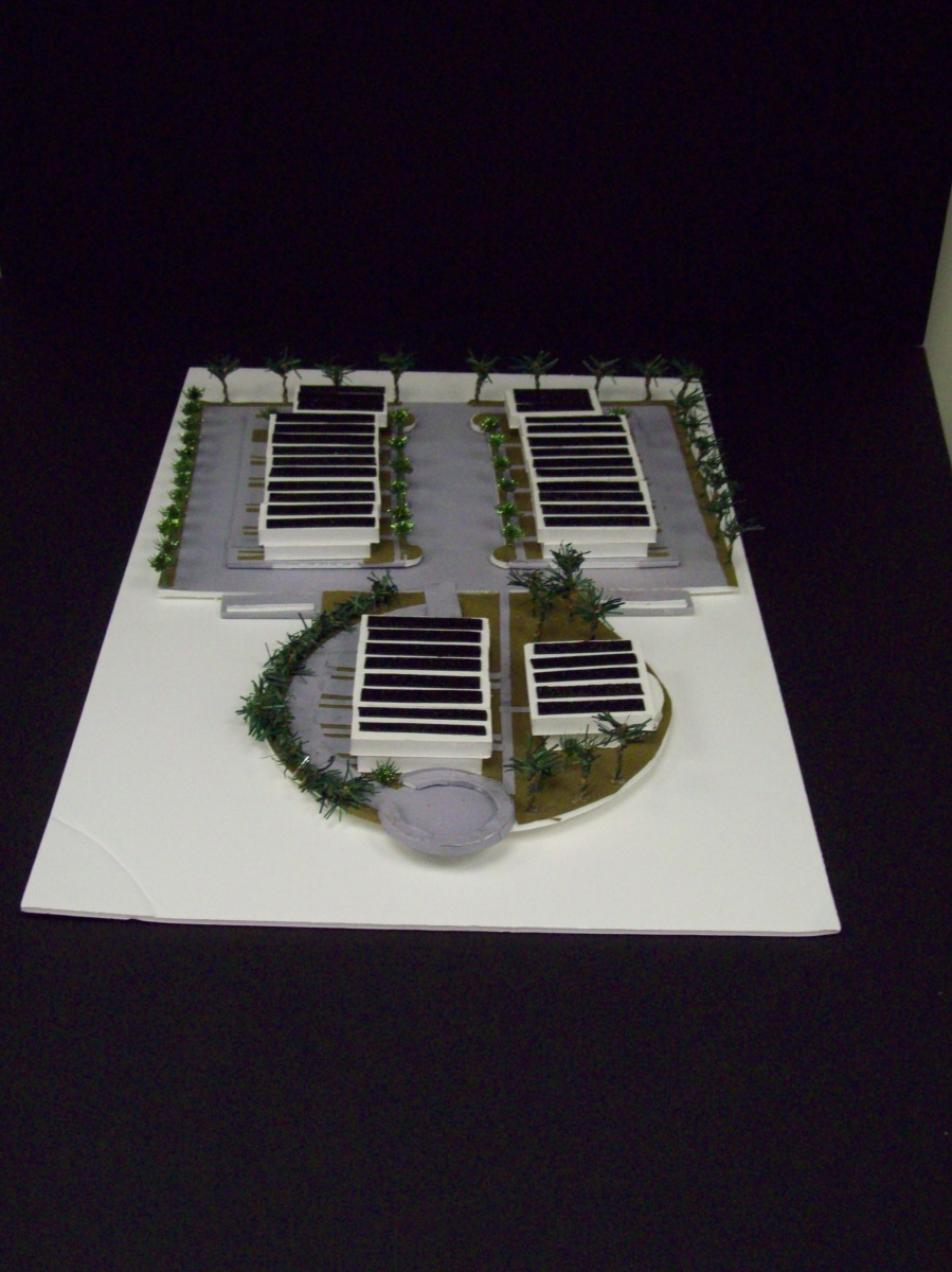 Self Sustainable Tropical Housing Complex 1/32″ scale