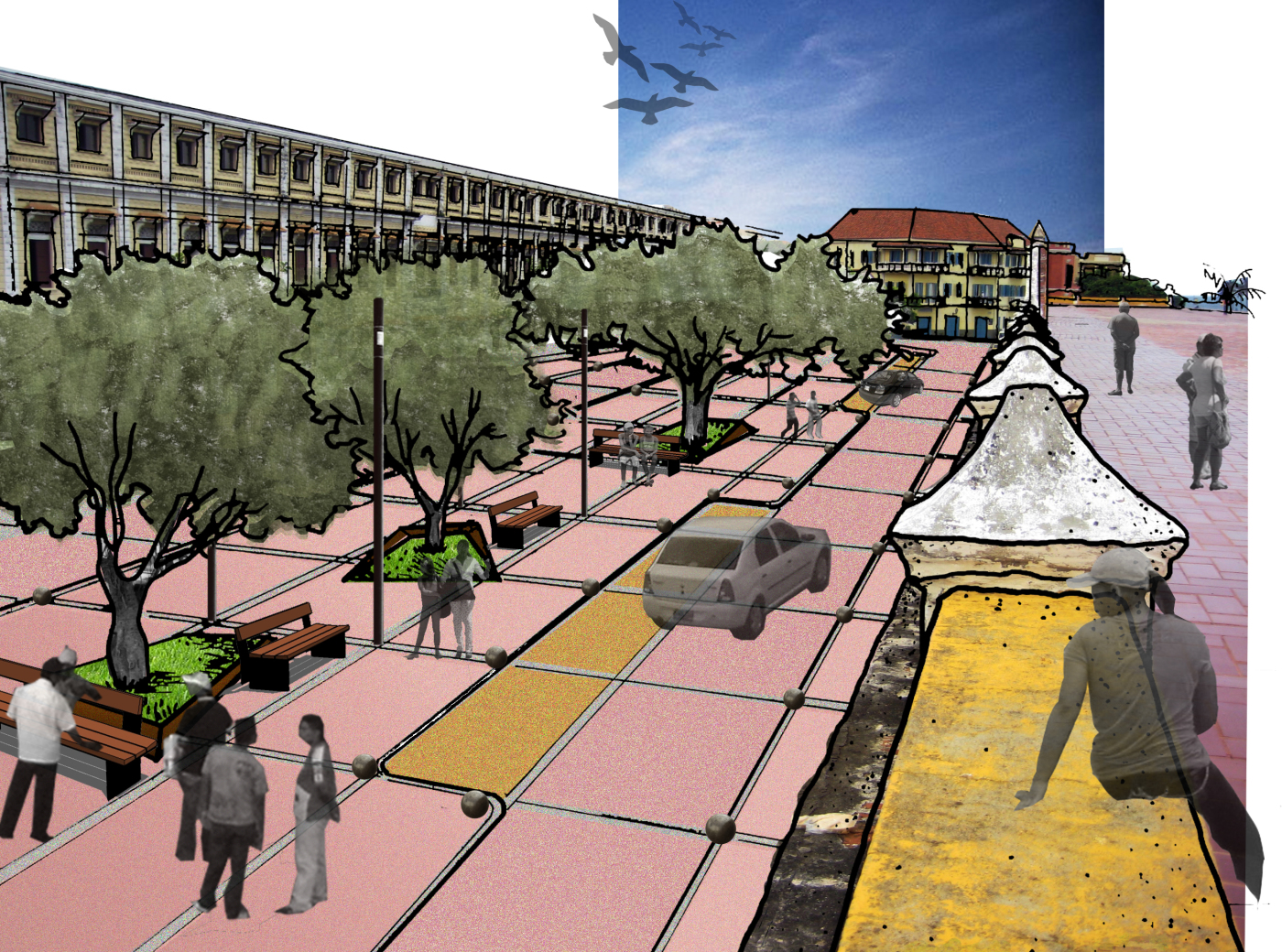 Diseño entorno Murallas Cartagena de Indias