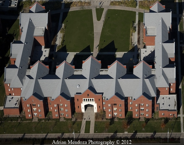 Aerial Photo of Dorms at the University of the Pacific, Stockton, California