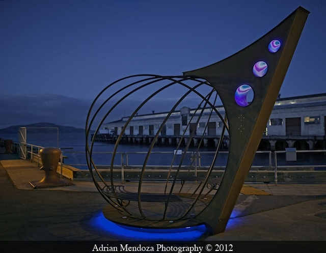 Sculpture by Jefferson Mack at Fort Mason, San Francisco, California