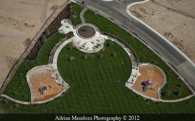 Aerial Photo of Park in Manteca, California