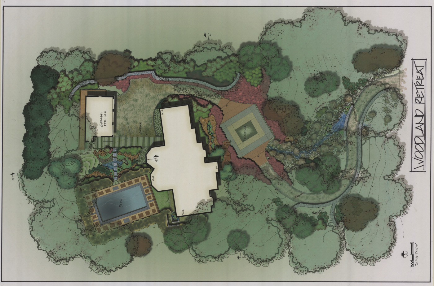 Woodland retreat plan