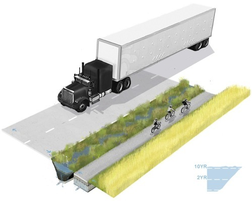 agricultural drainage ditch re-design as bioswale