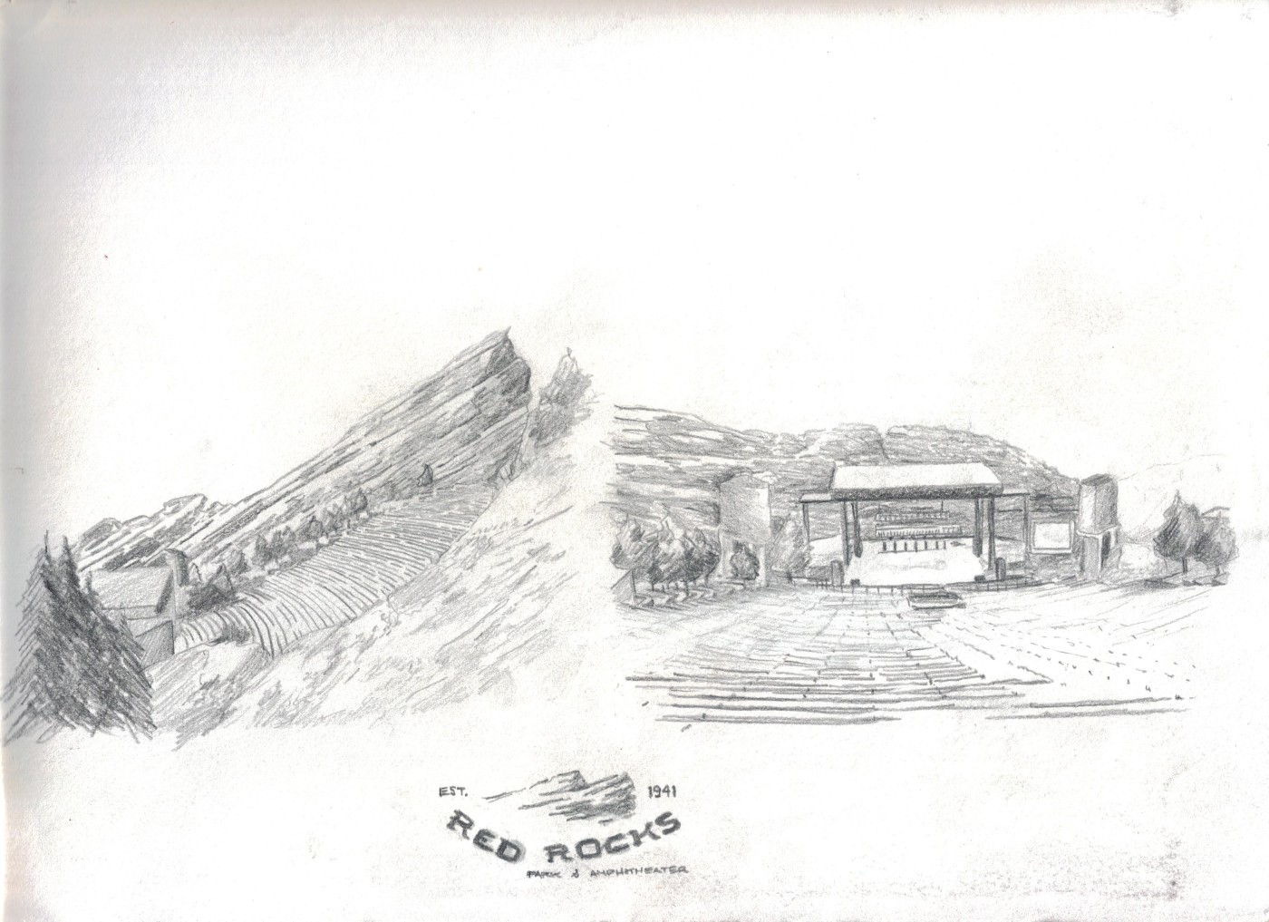 sketches_red rocks ampitheater