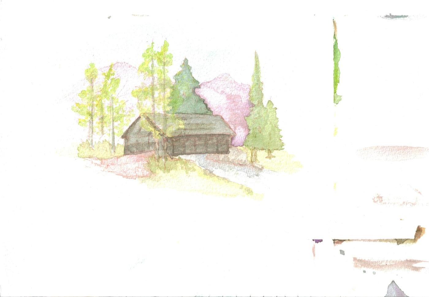 watercolors_gore creek bridge
