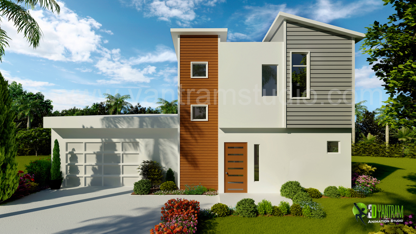 3d Exterior Home Design Rendering Land8