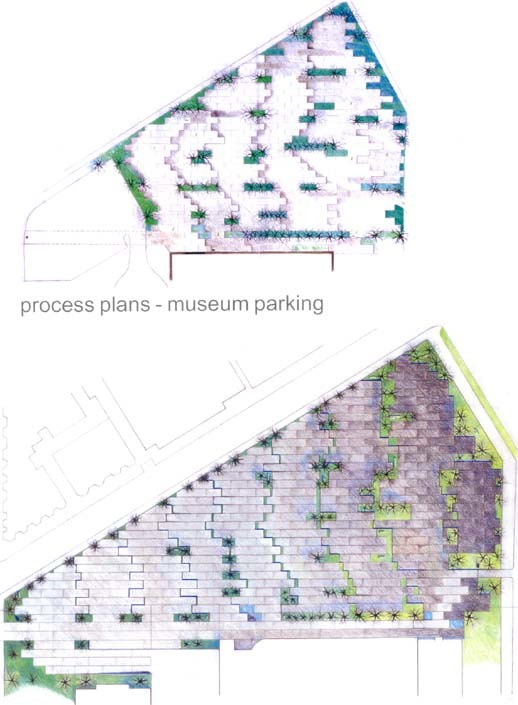 museum parking-hardscape