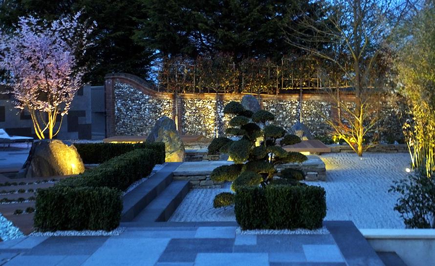 Japanese Garden Lit Up Land8