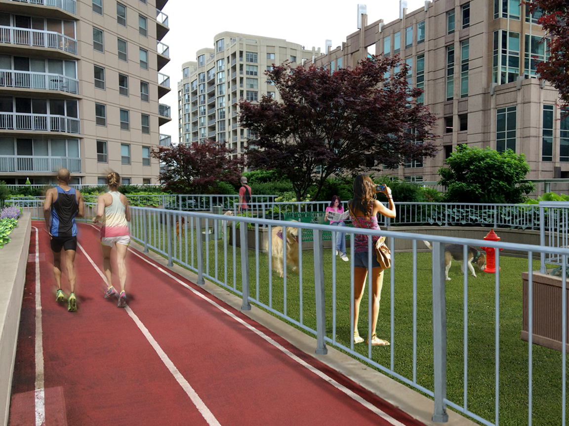Grand Plaza Hotel – Dog Park Rendering