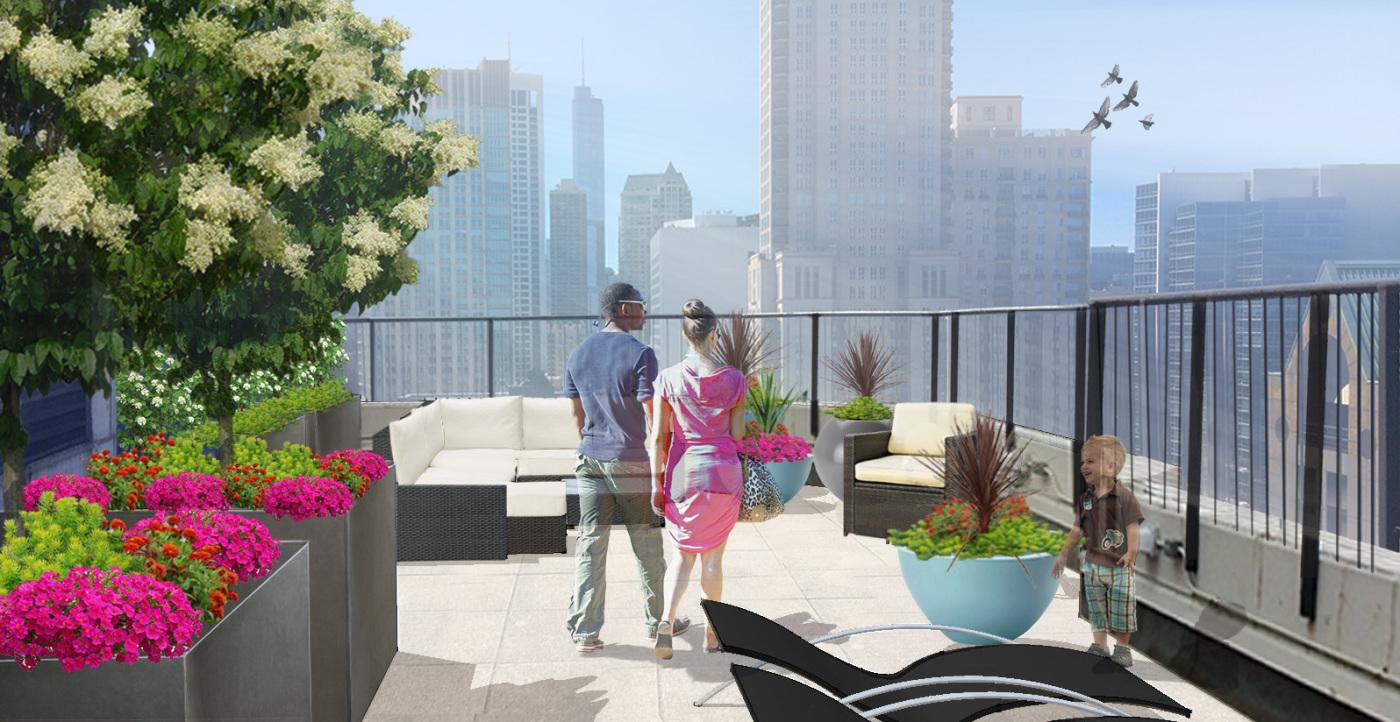 Chicago Roof Deck Retreat