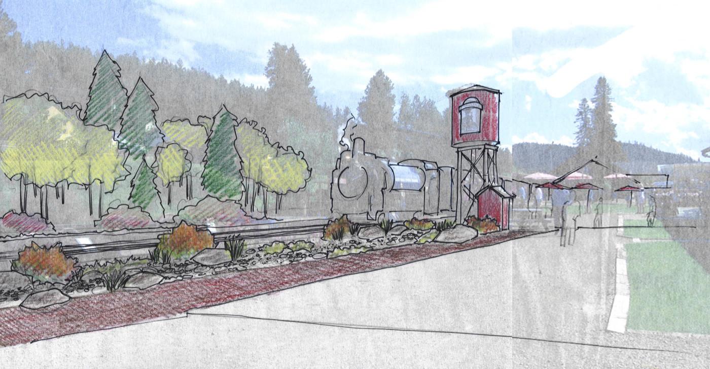 1880 Train – site design