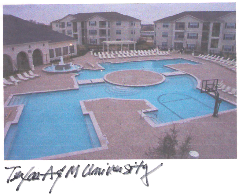 Texas A&M University (Student Housing) – Pool Amenity Area
