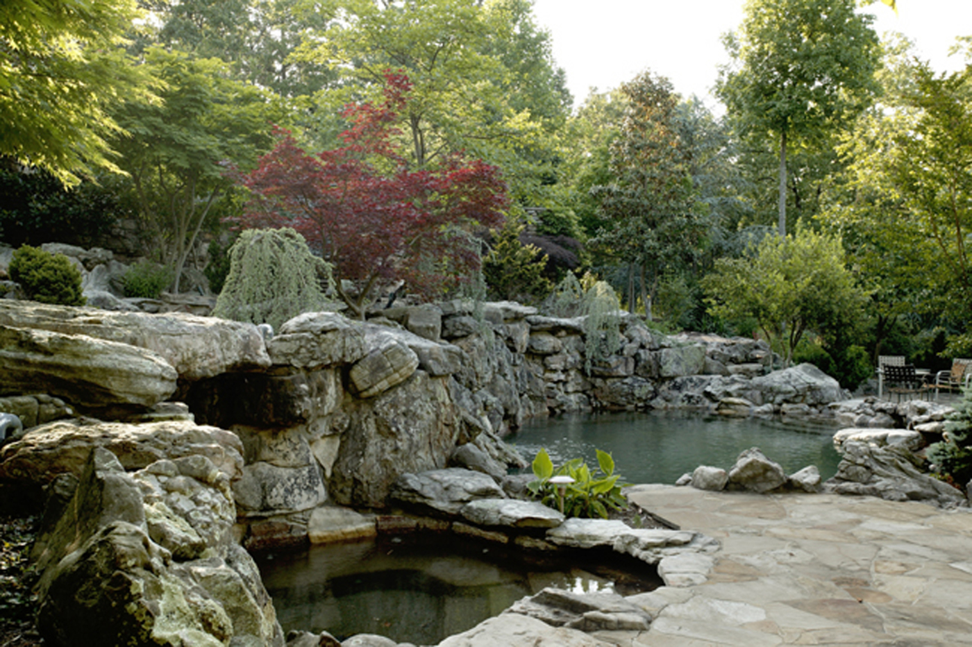 Spa and Upper Pool
