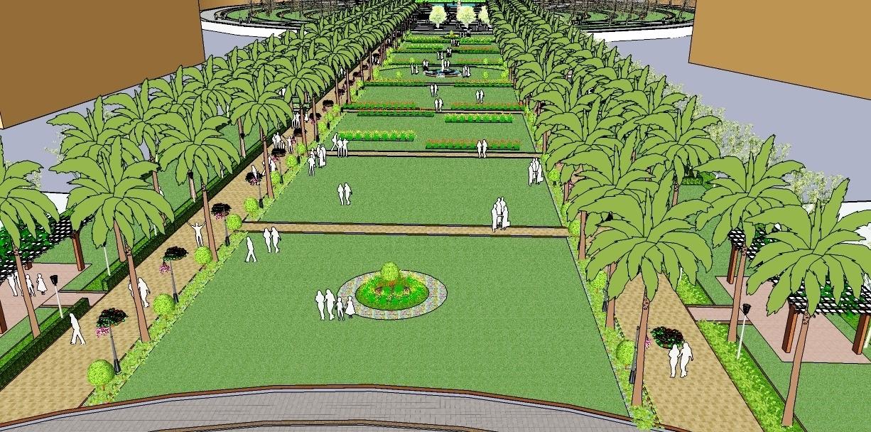 Mall garden