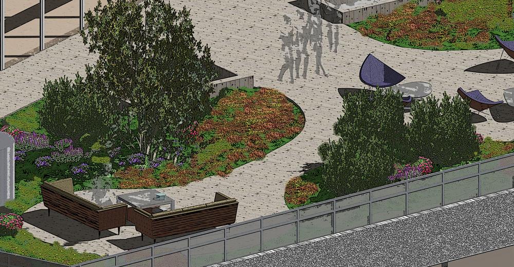 A roof terrace concept