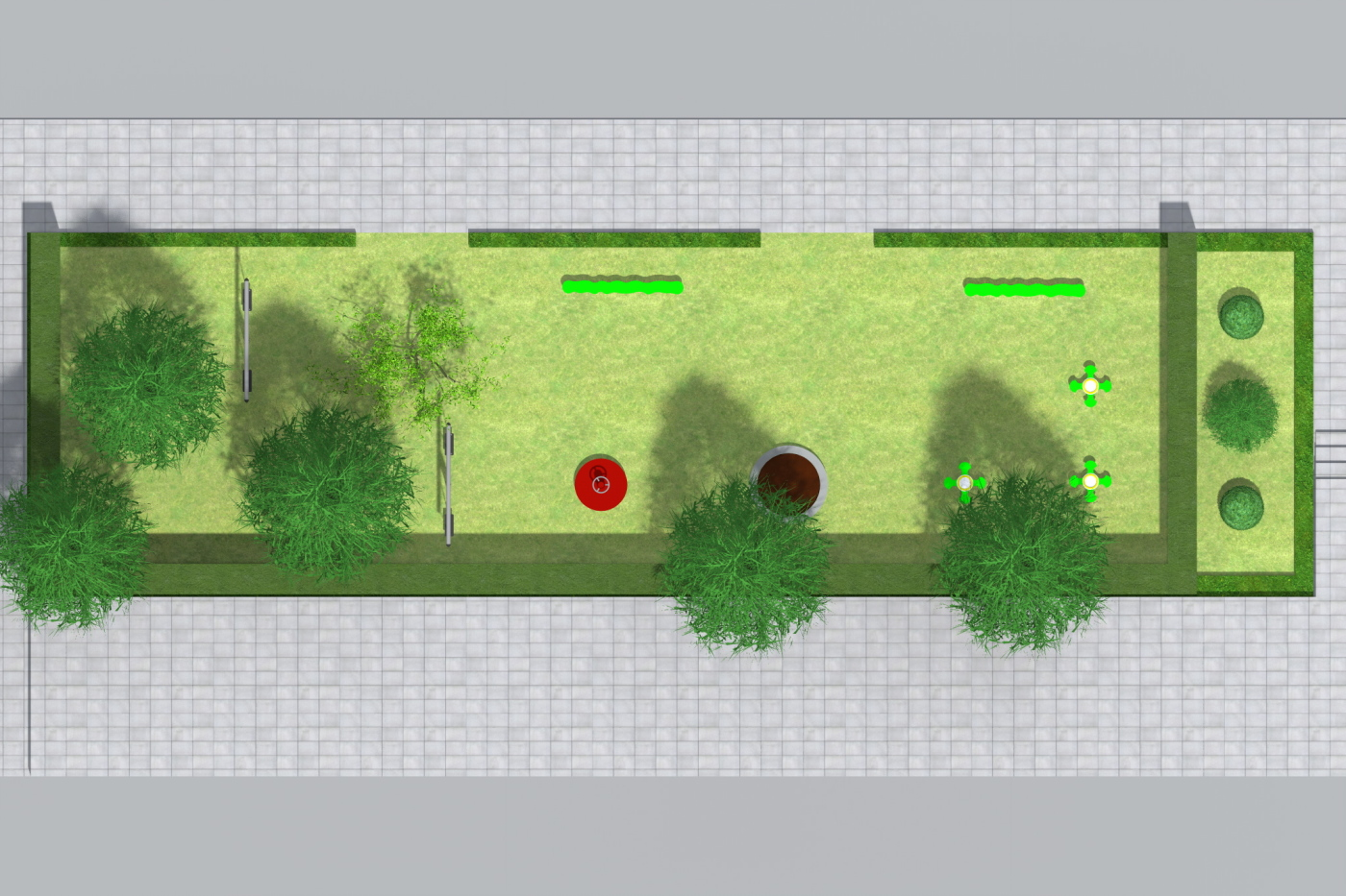 School entry garden plan
