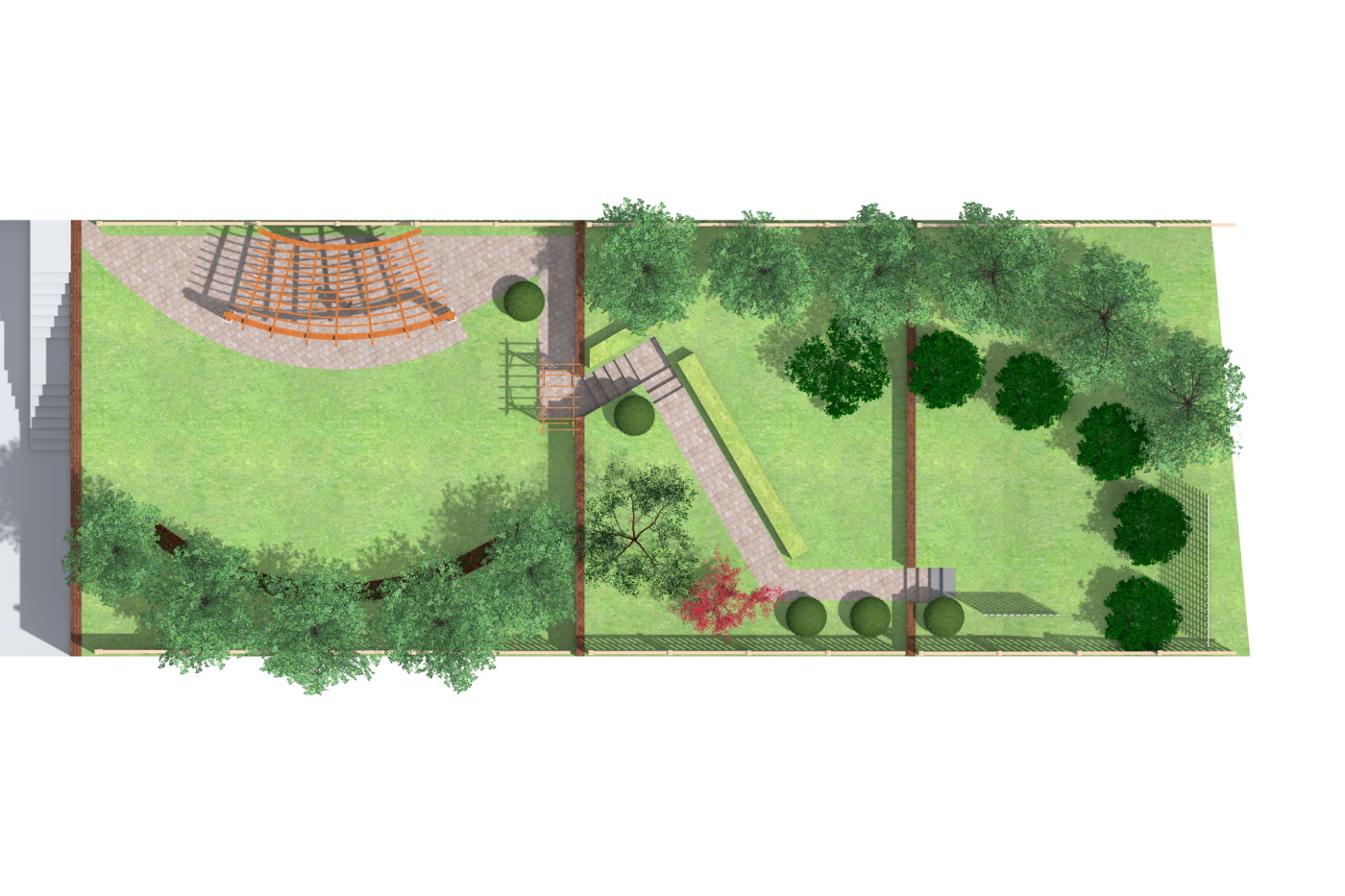 Sloping garden plan