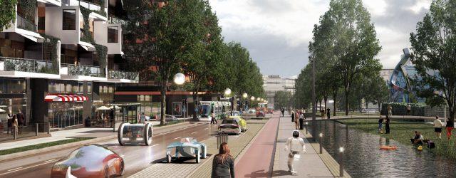 Hämeenlinnanväylä kaupunkibulevardina by Mikko Uro c. Helsinki City
