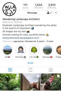 Instagram: Wandering Landscape Architect