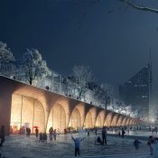 Tampere Travel and Service Centre Central_park, COBE and Lundén Architecture