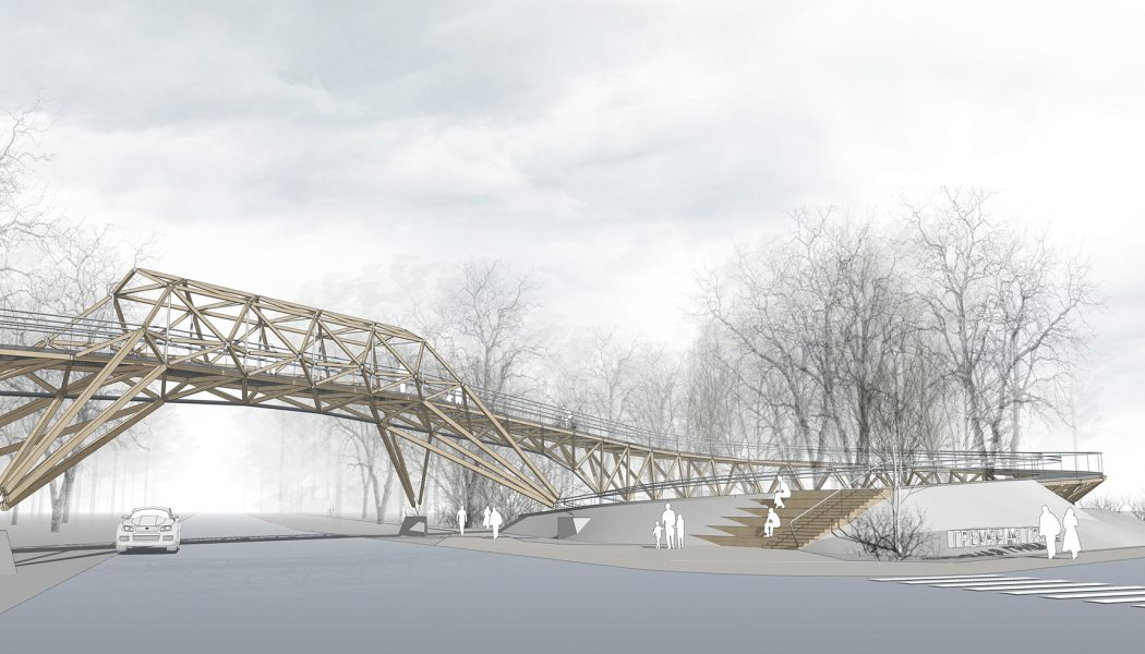 CONCEPT OF A PEDESTRIAN BRIDGE IN ECO-PARK / KRASNOYARSK, SIBERIA