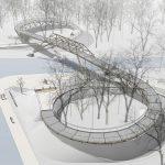 OOO ADM-CONCEPT OF A PEDESTRIAN BRIDGE IN KRASNOYARSK, SIBERIA (2)