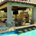 Outdoor Pool Kitchen - Highland Park, Texas