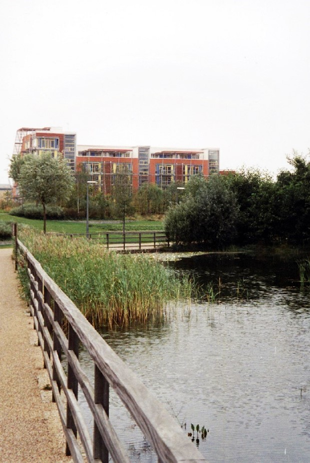 Figure 3: Greenwich Ecology Park, London. A site of community recreation and brownfield ecological restoration, whose design and program is unique to the park site's history as both a wetland, and a despoiled industrial landscape; its modern context as a site for exemplar sustainable housing; and its ongoing, skilled management by The Conservation Volunteers.