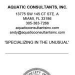Aquatic Consultants Inc.
