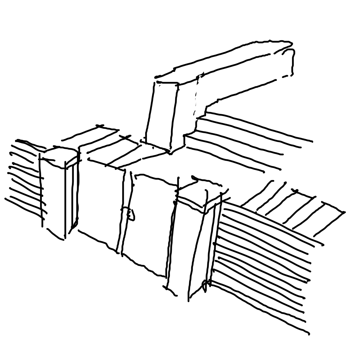 front gate sketch columns