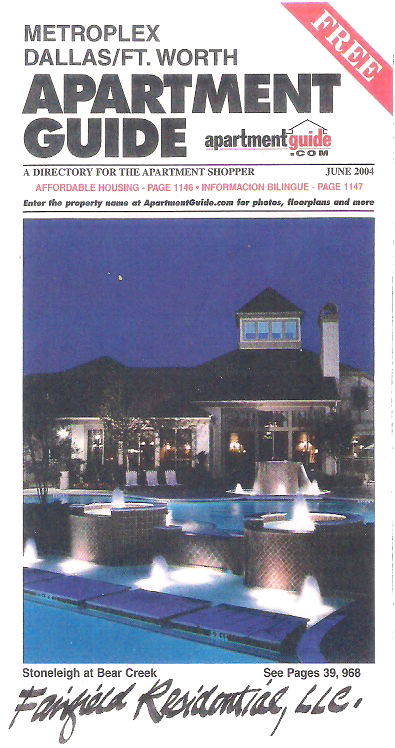 Apartment Guide - Metroplex Dallas Ft. Worth - Stoneleight at Bear Creek-001