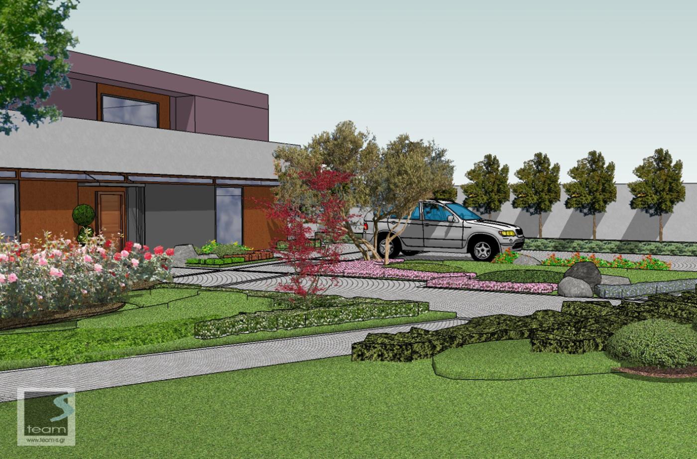Private residence landscape design proposal land8 for Garden design proposal