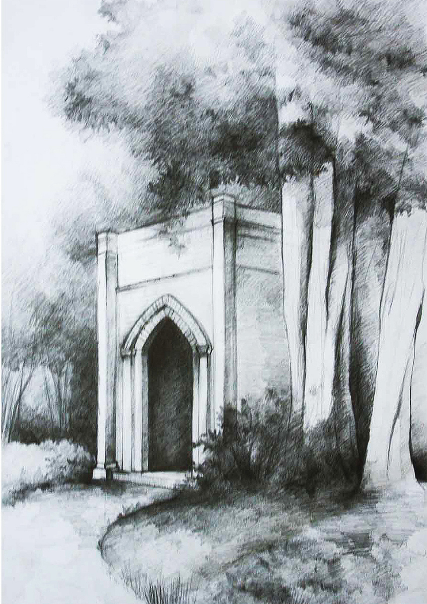 Revaluation of palace gardens in Sztynort - sketch